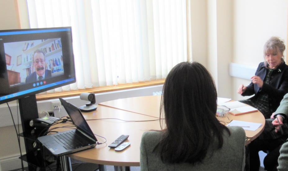 St Mary's Shaftesbury-Skype Interview with Prof Winston