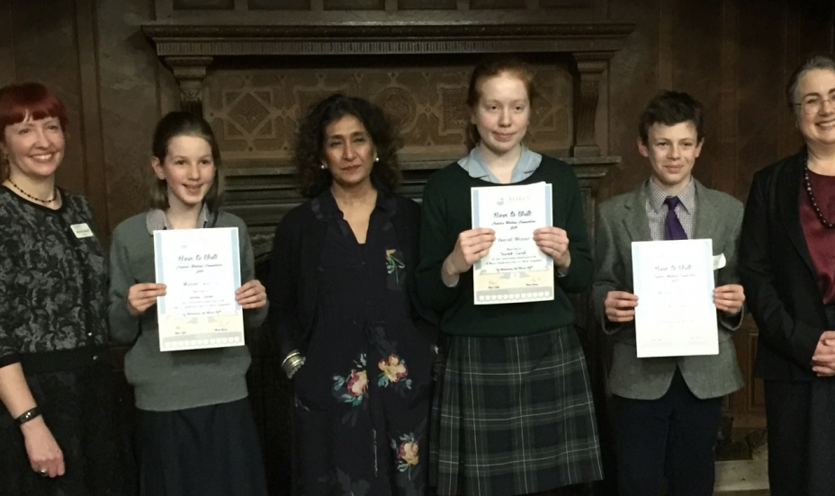 St Mary's Shaftesbury-Winners announced at Born to Write Prize Giving Ceremony 1