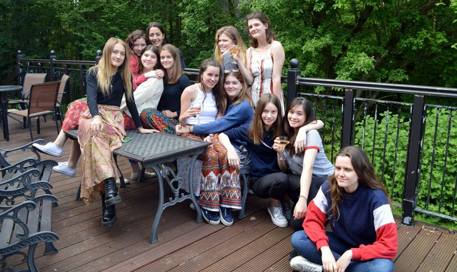 St Mary's Shaftesbury-UVI Leavers Enjoy a Retreat, Mass and Buffet in Mary Ward House